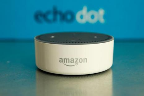 The Amazon Echo voice-controlled home assistant speaker. Photo: Bloomberg