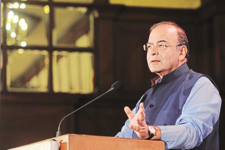 Arun Jaitley pointed out that amongst the BRICS countries, only China is slightly ahead of India. Photo: