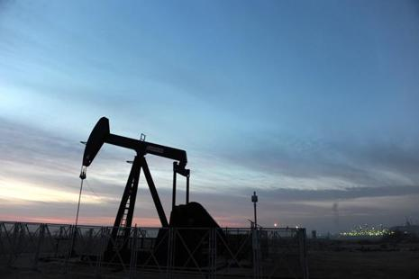Brent crude climbed 31 cents to $49 a barrel, having settled up $2.72, or 5.9%. Photo: Bloomberg