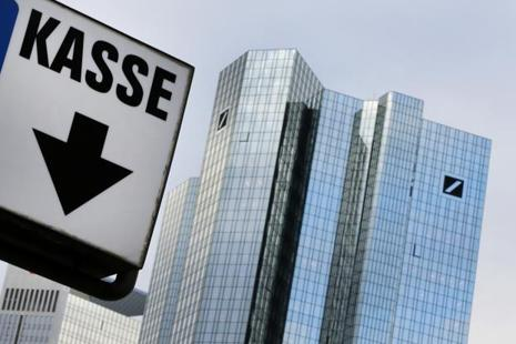 The latest bout of unease over Deutsche Bank stemmed from a report by Bloomberg that about 10 hedge funds had taken measure to reduce their exposure to with the bank. Photo: AP