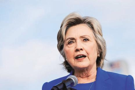 A file photo of US Democratic presidential candidate Hillary Clinton. Photo: Reuters