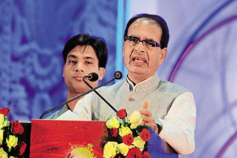 Chief minister Shivraj Singh Chouhan announced a host of policy initiatives to improve the business climate in Madhya Pradesh. Photo: HT