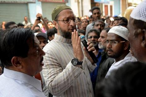 File photo. Owaisi also demanded 'justice' for Ishrat Jahan, a local girl, who along with others, was allegedly killed in a fake encounter by the police on the outskirts of Ahmedabad in 2004. Photo: AFP