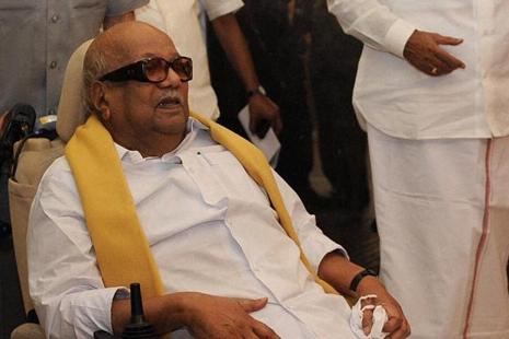 A file photo of DMK chief M.Karunanidhi. Photo: PTI