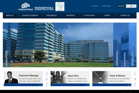 A screen grab of  Shapoorji Pallonji website