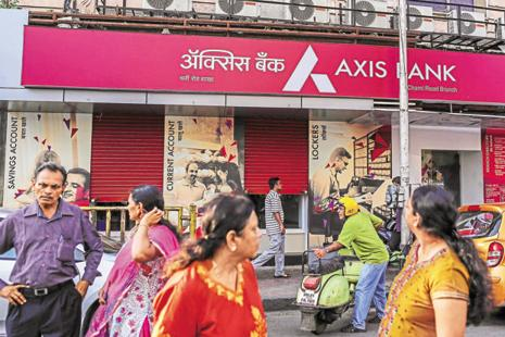 Axis Bank said its balance sheet grew 17% year-on-year and stood at Rs557,650 crore September end. Photo: Bloomberg