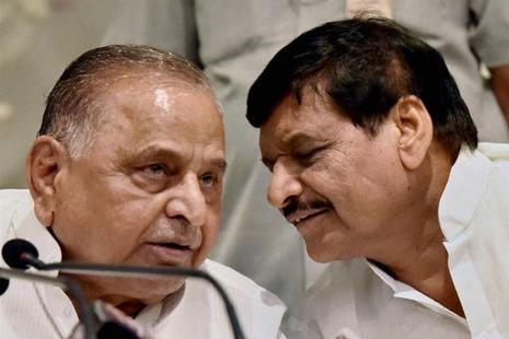 Shivpal Yadav (right) maintains there is no dispute in the SP and the Mulayam family. Photo: PTI