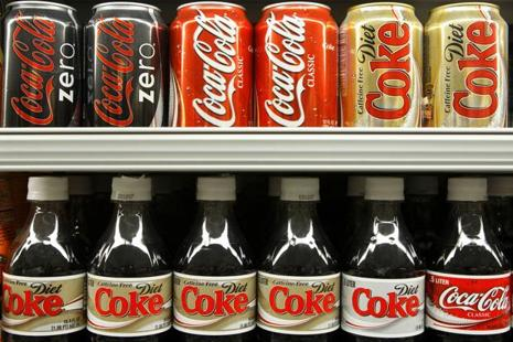 To help deal with the backlash toward its core soda business, Coca-Cola has diversified its portfolio to add bottled waters, juices, coffees and teas. Photo: Bloomberg