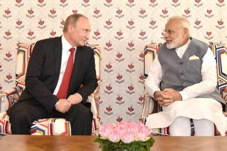PM Narendra Modi and Russian President Vladimir Putin inked defence deals worth over $10 billion during their meeting in Goa on 15 October on the sidelines of the Brics Summit. Photo: PTI