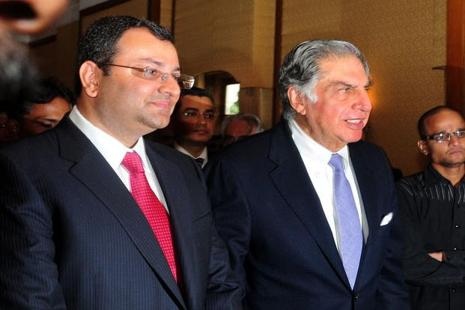 A file photo of Ratan Tata (left) with Cyrus Mistry. Photo: Indranil Bhoumik/Mint