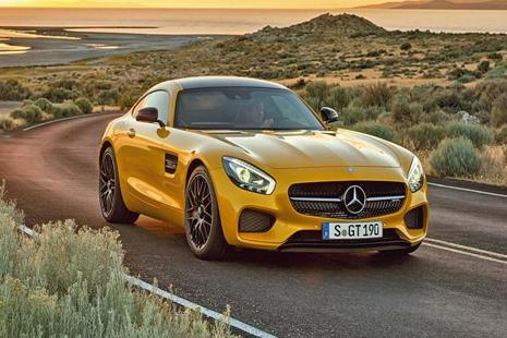 The Mercedes AMG GT S.