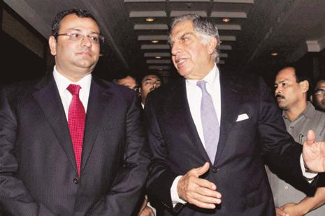 A file photo of Cyrus Mistry and Ratan Tata. Photo: PTI