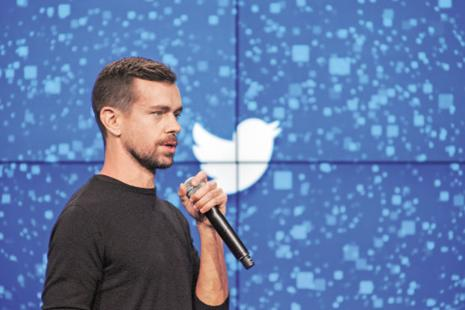 Jack Dorsey quitting one of his jobs might help change Twitter's perception with the public, investors and employees, and it would buy the company some time for a reboot. Photo: NYT