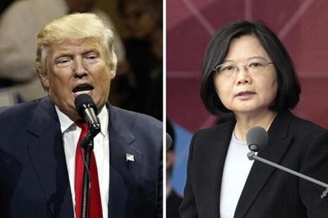 A combined file photo of US President-elect Donald Trump (left) and Taiwan's President Tsai Ing-wen. Photo: AP