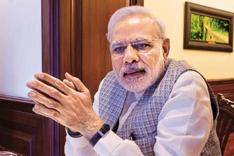 Narendra Modi will have to buffer the pain by providing sops to the masses and by expanding public works. File photo: Hindustan Times