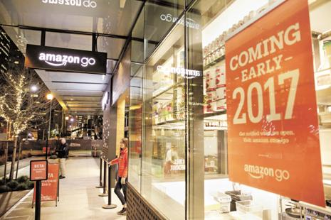 The Amazon Go grocery store with automated checkout will open to the public next year in Seattle. Photo: Reuters
