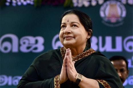A file photo of  former Tamil Nadu chief minister Jayalalithaa. Photo: PTI