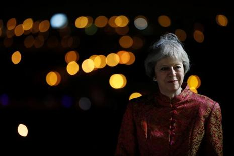 UK Prime Minister Theresa May visited India last month in an attempt to promote post-Brexit trade and investment. Photo: Reuters