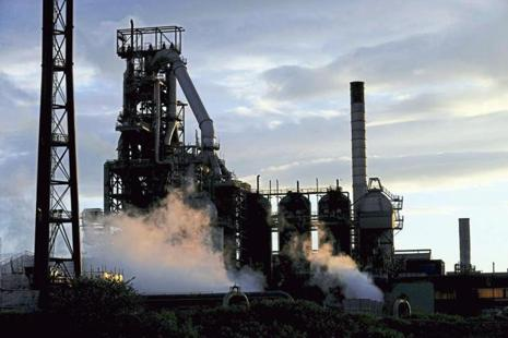 One of the blast furnaces of the Tata Steel plant in Port Talbot, South Wales. Photo: Reuters