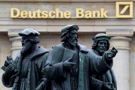 Deutsche Bank was in talks with JPMorgan, Citigroup and Goldman Sachs Group Inc. to sell the last batches of about €1 trillion ($1.1 trillion) in credit-default swaps. Photo: Reuters