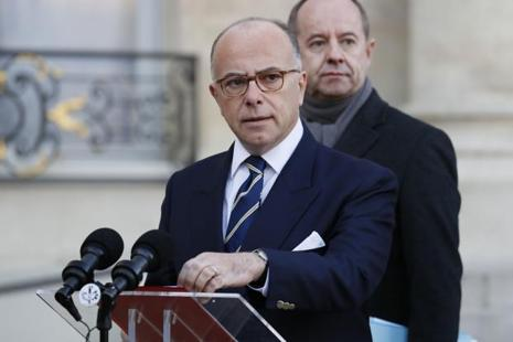 French Prime Minister Bernard Cazeneuve at a press conference in Paris on Saturda. Photo: AFP