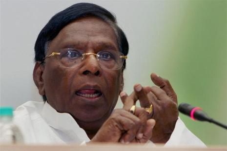 A file photo of Puducherry chief minister V. Narayanasamy. Photo: PTI