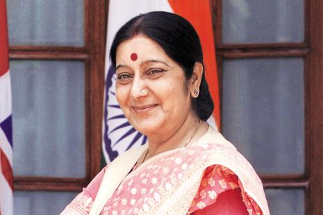 A file photo of foreign minister Sushma Swaraj. Photo: Sanjeev Verma/HT