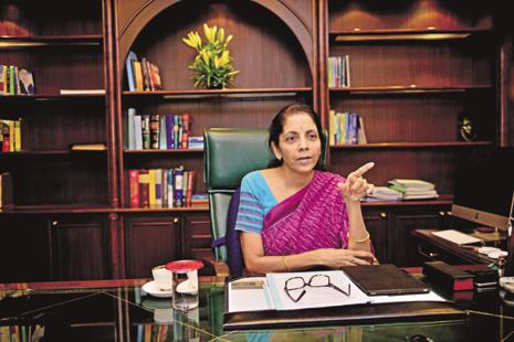 Nirmala Sitharaman said that all the suggestions of the entrepreneurs have been compiled by the ministry and given to the finance ministry. Photo: Pradeep Gaur