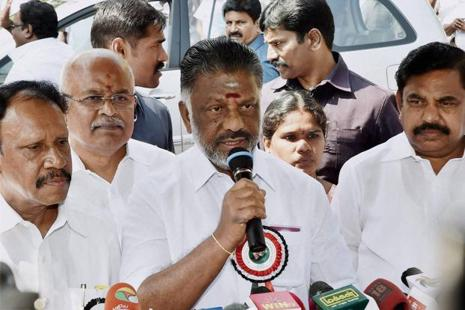 With J. Jayalalithaa's death, and O. Paneerselvam taking over the reins of the Tamil Nadu government, the state administration seems to be having a rethink on many policy initiatives of the Central government. Photo: PTI