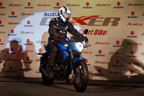 The Gixxer is powered by a 155cc, single cylinder, air cooled engine with a five-speed gearbox. Photo: PTI