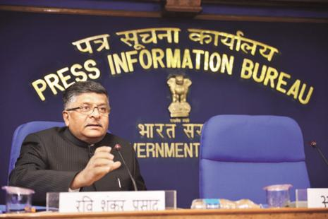 Union minister for electronics and information technology Ravi Shankar Prasad says the plan is to make India a big hub in electronic manufacturing. Pradeep Gaur/Mint