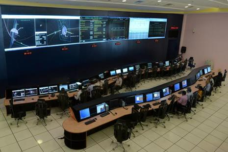 A file photo of Isro scientists monitoring the Mars Orbiter Mission (MOM) at the Isro Telemetry, Tracking and Command Network (ISTRAC), which controls the orbiter, in September 2014. Photo: AFP
