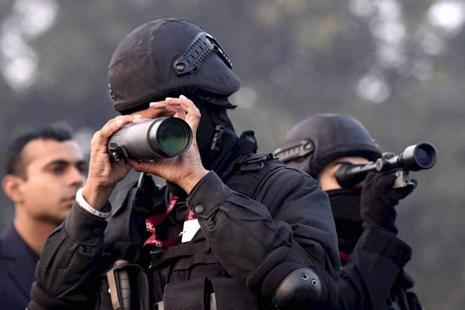 Nearly 300 buildings have been identified in central Delhi where snipers will be placed and pickets have been set up in the vicinity to keep track of any suspicious activity. Photo: PTI