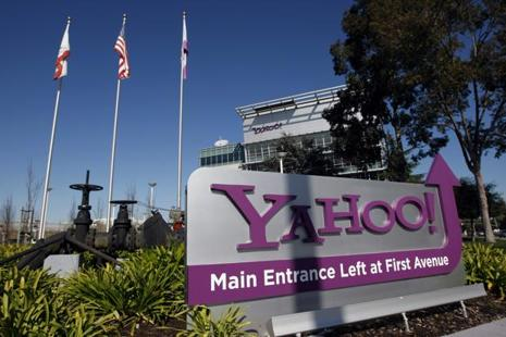 Yahoo reported fourth-quarter revenue that topped analysts' estimates and user activity that showed minimal declines after the announcement of a second major security breach. Photo: Bloomberg