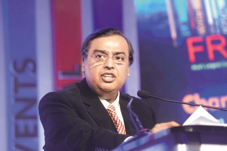 RIL chairman Mukesh Ambani announced at the Nasscom leadership summit last week that Reliance Jio has achieved its target of 100 million subscribers within five months of its launch. Photo: Abhijit Bhatlekar/Mint