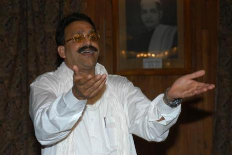 Mukhtar Ansari is also the man whose party's merger with the Samajwadi Party led to the Yadav family feud to spill out in the open. Photo: HT