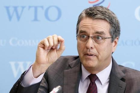 WTO director general Roberto Azevedo informs the media about the Trade Facilitation Agreement, during a press conference at the headquarters of the World Trade Organization in Geneva, Switzerland on Wednesday. Photo: AP