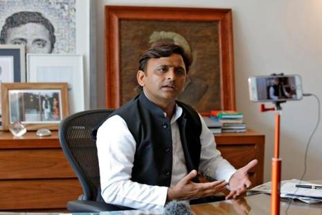Akhilesh Yadav, chief minister of the Uttar Pradesh and Samajwadi Party president, speaks during an interview with Reuters in Lucknow on 22 February. Photo: Reuters