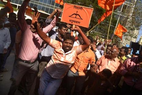 Of the 10 corporations that were part of Maharashtra civic polls, the two saffron parties, BJP and Shiv Sena, accounted for nearly 70% of the 1,268 seats that were contested. Photo: Abhijit Bhatlekar/Mint