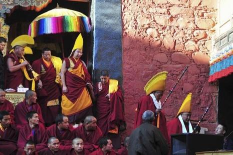 China has gradually exposed its Panchen Lama, Gyaltsen Norbu, in public roles in the hope he will achieve the respect commanded by the Dalai Lama among Tibetans and globally. Photo: Reuters