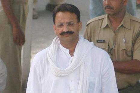 Mukhtar Ansari has been elected from Mau constituency for a record four times. The controversial politician who recently joined the BSP has over 40 criminal cases against him, including that of murder and kidnapping. Photo: PTI