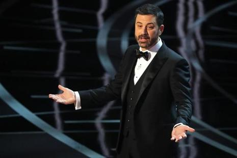Jimmy Kimmel hosted the 89th Academy Awards on Sunday night. Photo: Reuters
