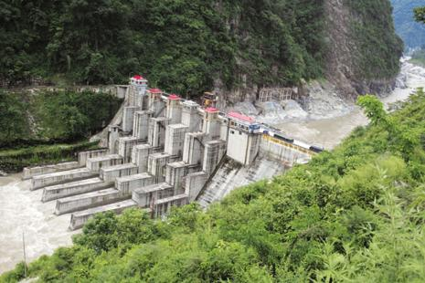 A file photo of NHPC's hydropower project on the Teesta river at Kalijhora near Siliguri in 2008. Photo: AFP
