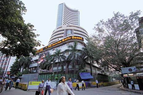 The Sensex closed at 29,167.68 points and Nifty at 9,030.45 points after US markets had their worst day in six months as investors feared that Donald Trump's failure to repeal Obamacare may mean that his reform policies would hit a roadblock. Photo: Hemant Mishra/Mint
