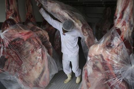 Brazil's meat exports plunged to $74,000 on Tuesday, compared with the daily average of $63 million. Photo: AP