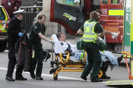 Five people, including the attacker, were killed and at least 40 injured in London after a car ploughed into pedestrians on Wednesday. Photo: Bloomberg