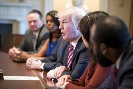 Donald Trump was meeting at the White House with some of the bill's strongest opponents—members of the conservative House Freedom Caucus who say it does not go far enough to undo Obamacare. Photo: AP