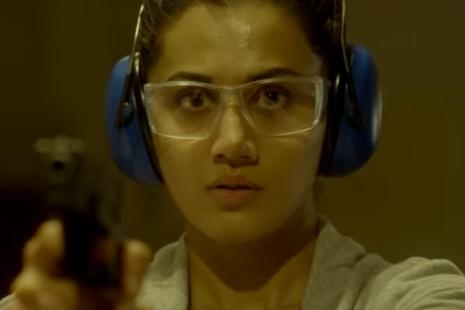 Taapsee Pannu in a still from 'Naam Shabana'.
