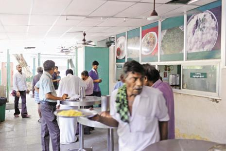 Amma canteens were started by then Tamil Nadu CM J. Jayalalithaa in 2013 to provide subsidized food for the people of her state. Photo: Hemant Mishra/Mint