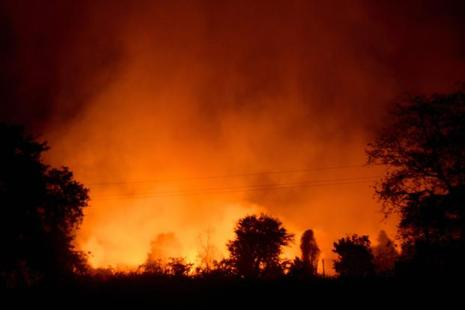 Fire broke out at the Ordnance Factory in Jabalpur on Saturday evening. Photo: PTI